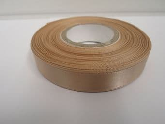 Latte Coffee beige Satin ribbon Double sided 3mm 7mm 10mm 15mm 25mm 38mm 50mm Roll Bow